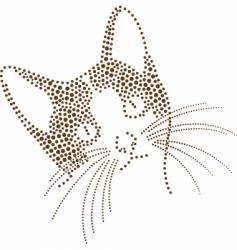 Dots cat vector
