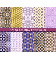 Arabian seamless pattern background set vector