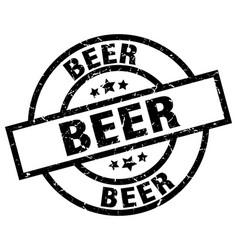 Beer round grunge black stamp vector
