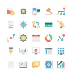 Business and office colored icons 5 vector