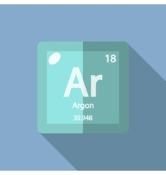 Chemical element argon flat vector