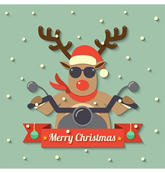 Christmas reindeer background vector