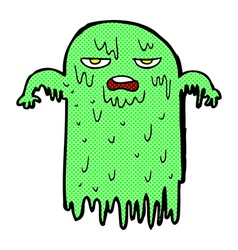 comic cartoon slimy ghost vector image vector image