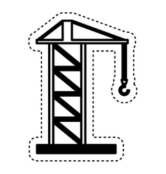 Construction crane service icon vector