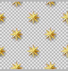 geometric stars seamless pattern vector image vector image