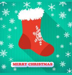 merry christmas postcard vector image vector image