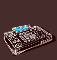mpc drum machine vector image