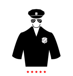 Police icon flat style vector