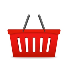 Red Shopping Basket vector image vector image