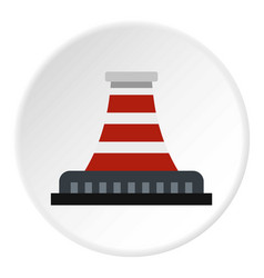 Refinery with pipe icon circle vector