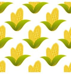 Seamless pattern of fresh corns vector image