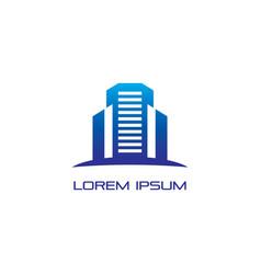 skyscraper business building logo vector image vector image