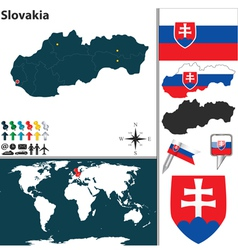Slovakia map world vector