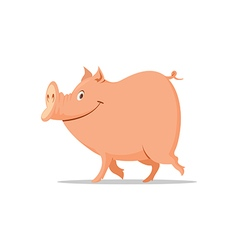 smiling pig cartoon vector image