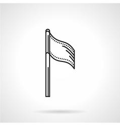 Sport flag black line icon vector image vector image