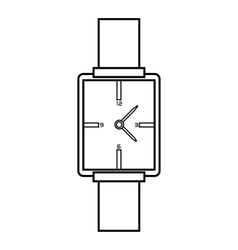 Square wristwatch icon outline style vector