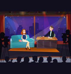 talk show vector image