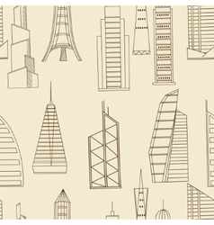 Tall buildings seamless retro vector