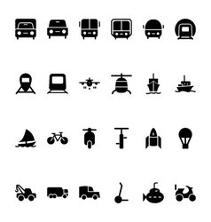 Transport Hand Drawn Doodle Icons 1 vector image vector image