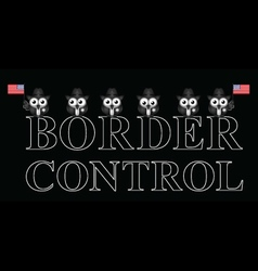 Usa border control vector