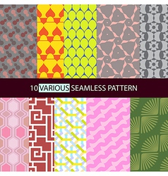 Various shape seamless pattern vector image vector image
