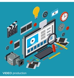 Video production isometric concept vector