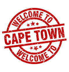 Welcome to cape town red stamp vector