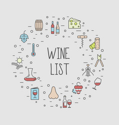 wine list concept for bar or restaurant menu vector image vector image