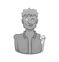 Zombie icon black monochrome style vector image vector image