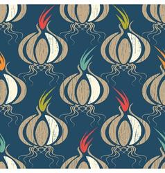 village garlic vector image