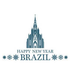 Happy New Year Brazil vector image