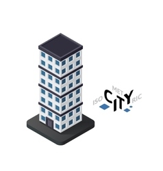 Isometric skyscraper icon building city vector