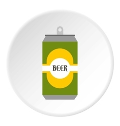 Aluminum beer icon flat style vector