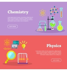 Chemistry and physics science banners vector