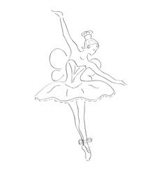 Dancing ballerina with wings vector