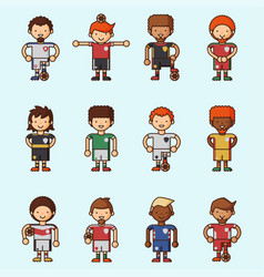 National euro cup soccer football teams vector