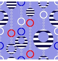 Pattern with marine beads vector