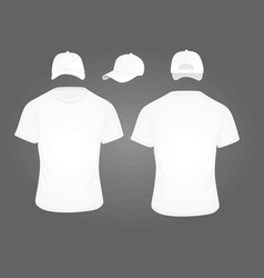 cap and t shirt vector image