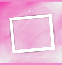 Picture frame on watercolour background vector
