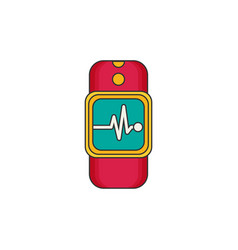 Smartwatch wearable technology flat icon vector