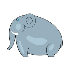 Blue-eyed elephant with tusks vector