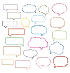Colored line speech bubbles vector