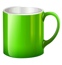 A big green mug vector