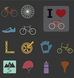 Bicycle icons vector
