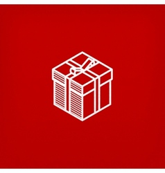 Isometric gift box icon vector