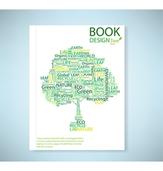 Cover report stylized tree eco and icon vector