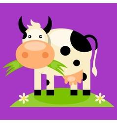 Cute baby cow cartoon vector