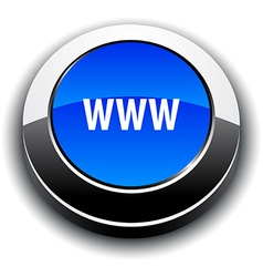 Www 3d round button vector