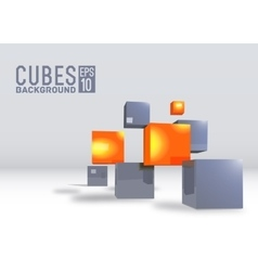 3d abstract digital cubes background vector