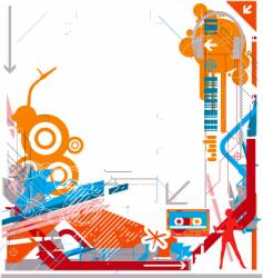 Abstract dj music background vector
